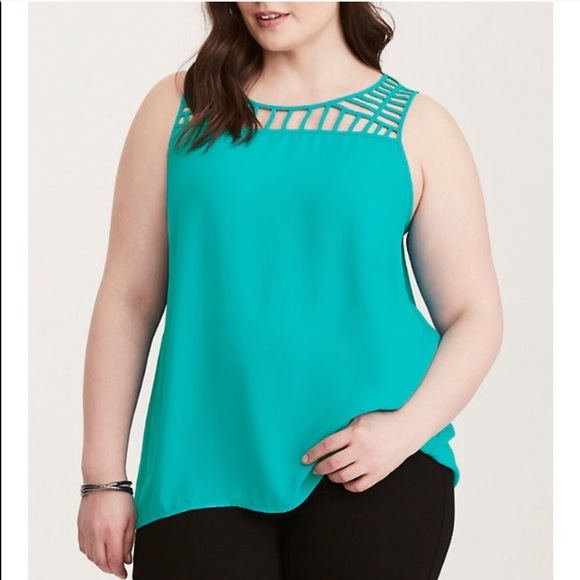 torrid Tops - TORRID SIZE 3 STRAPPY TURQUOISE